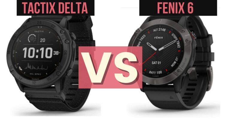 garmin tactix delta vs fenix 6