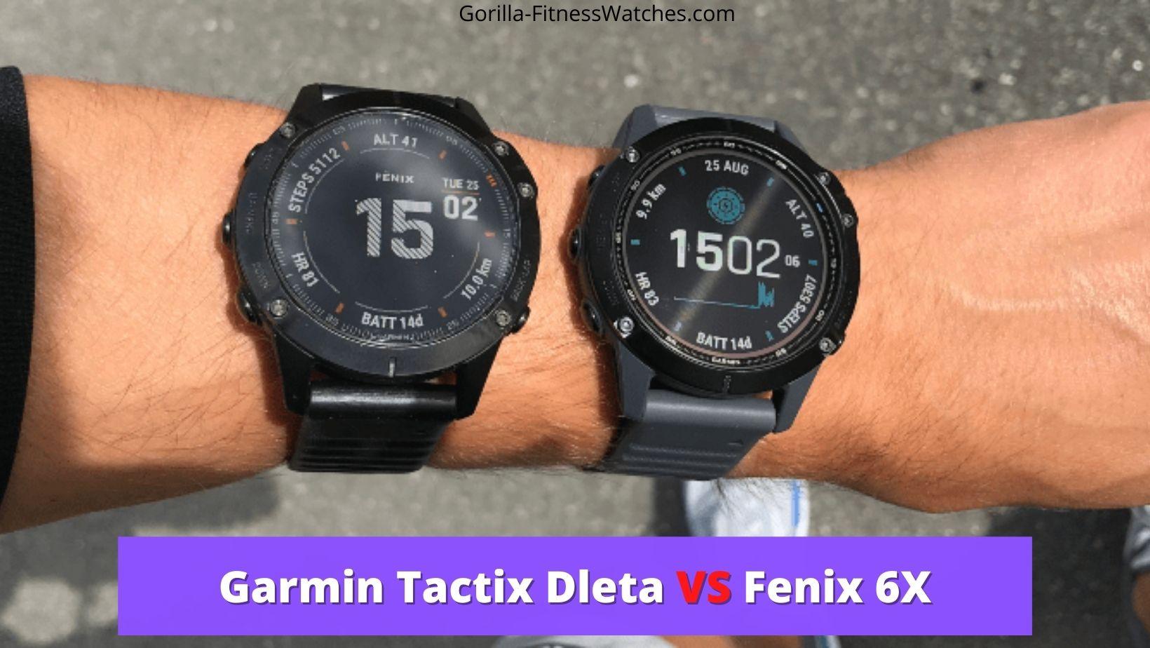 garmin tactix delta vs fenix 6x