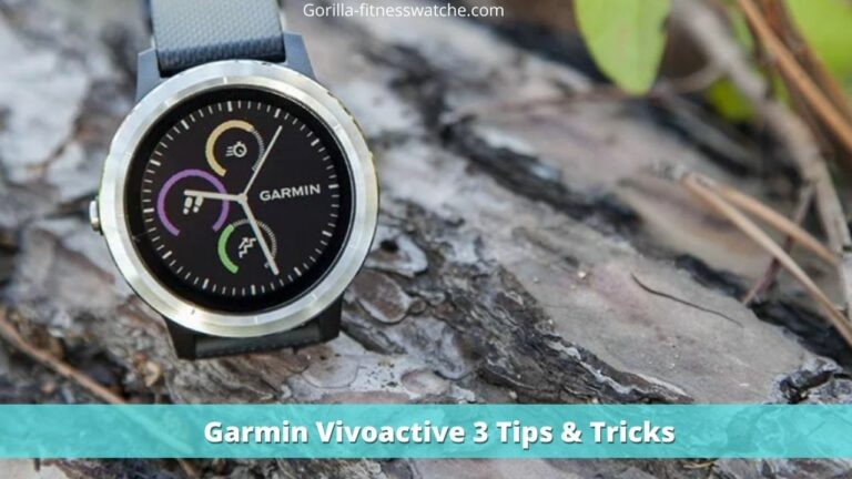 garmin vivoactive 3 tips and tricks