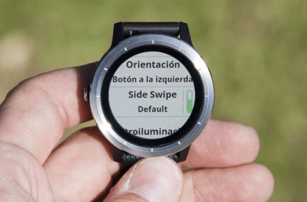 side swipe feature in garmin vivoactive 3