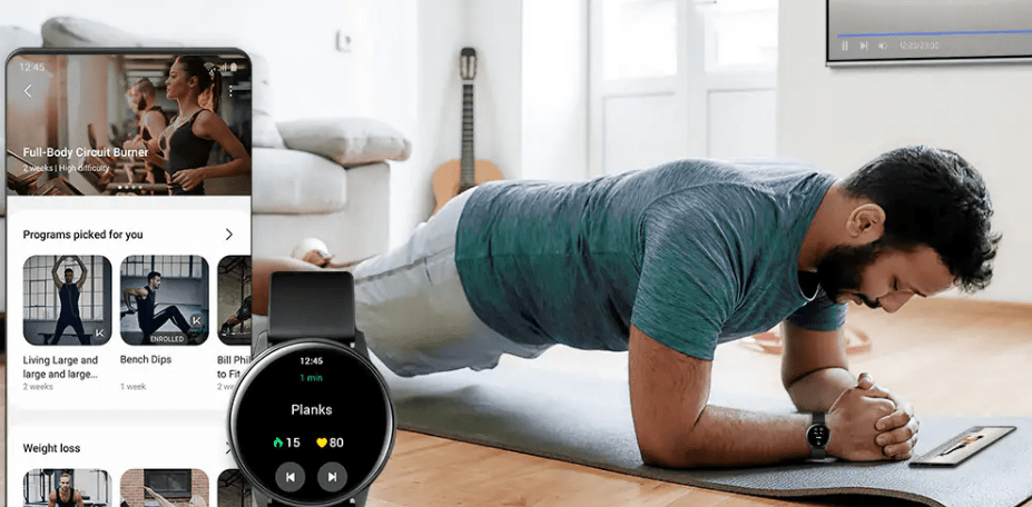 How does the Samsung Galaxy watch measure Stress?
