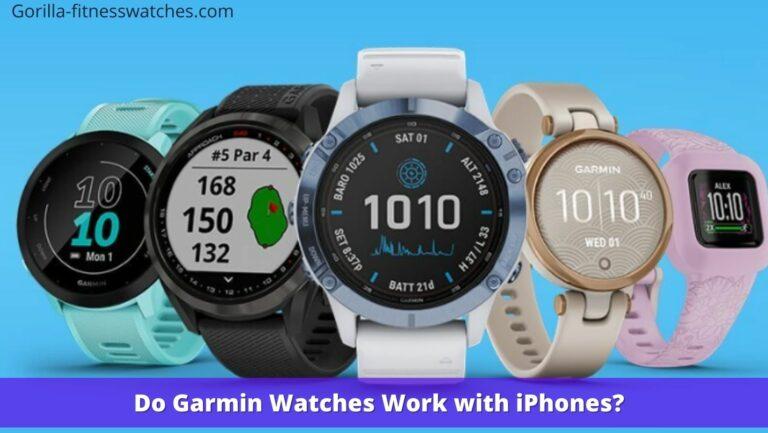Do Garmin Watches Work with iPhones?